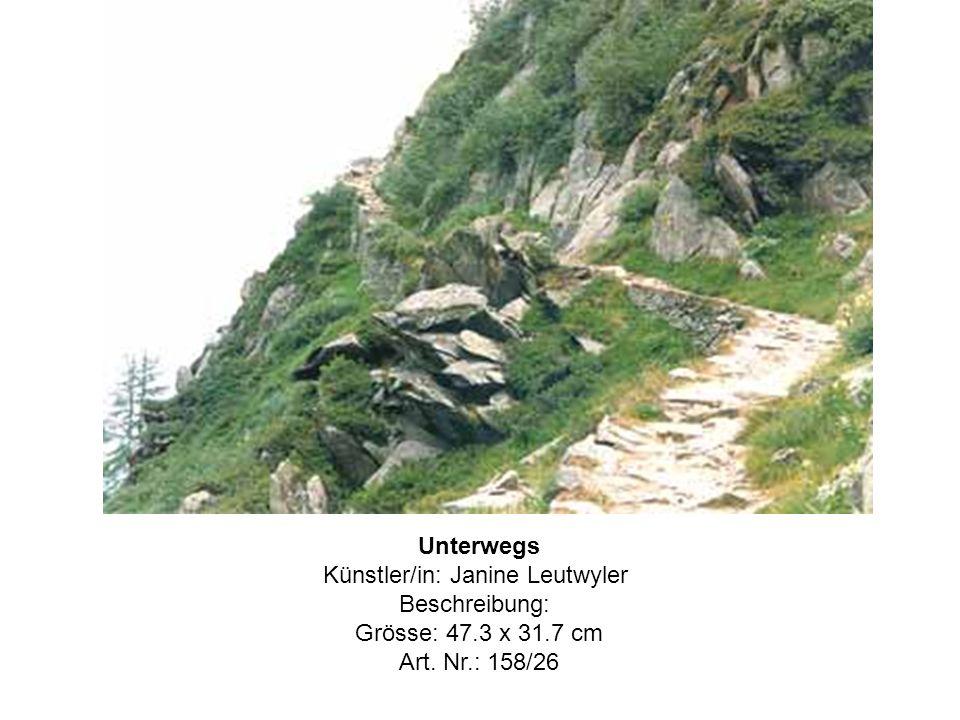 Unterwegs Künstler/in: Janine Leutwyler Beschreibung: Grösse: 47.3 x 31.7 cm Art. Nr.: 158/26