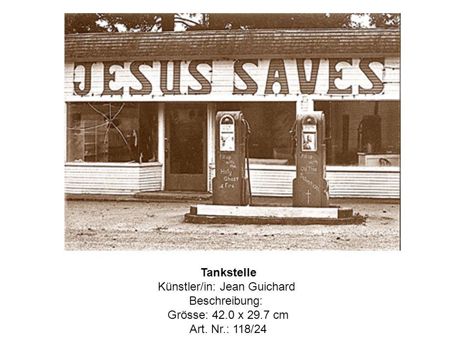 Tankstelle Künstler/in: Jean Guichard Beschreibung: Grösse: 42.0 x 29.7 cm Art. Nr.: 118/24