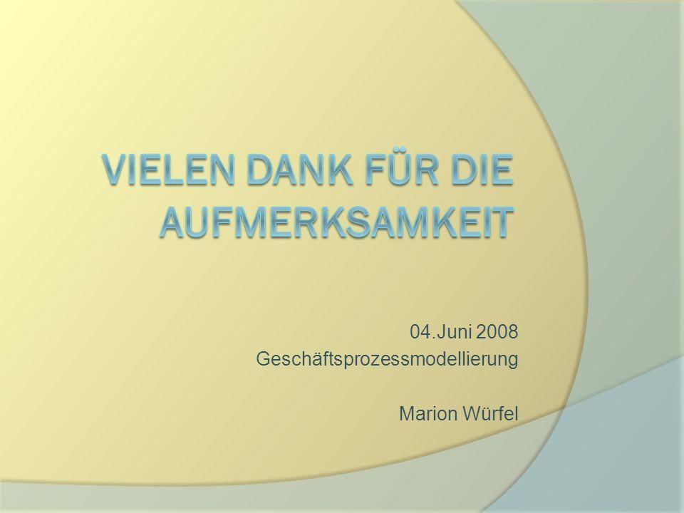 04.Juni 2008 Geschäftsprozessmodellierung Marion Würfel