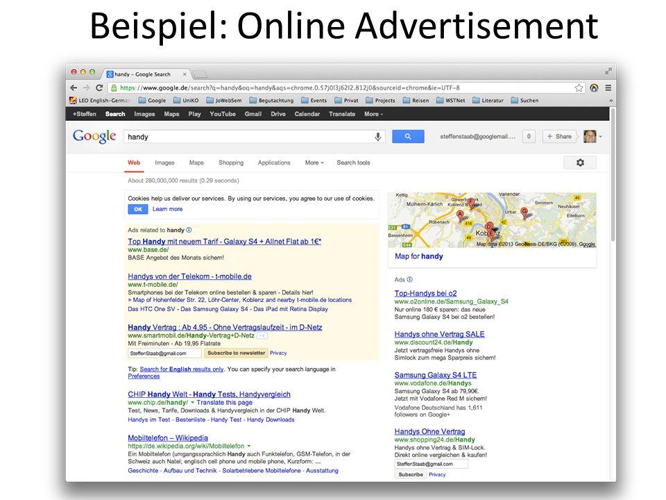 Beispiel: Online Advertisement