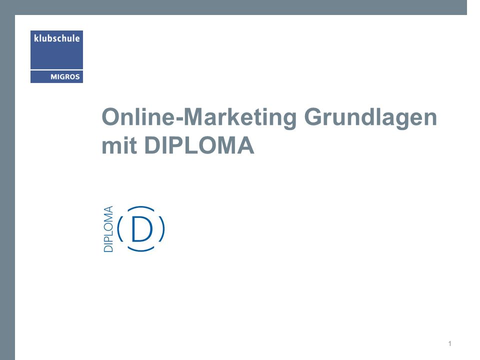 Online-Marketing Grundlagen mit DIPLOMA 1