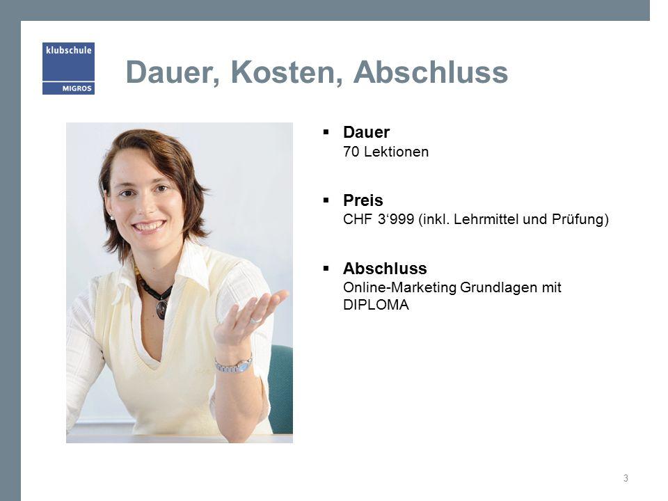 DIPLOMA ist der schweizweit anerkannte Abschluss der Klubschule Migros 14