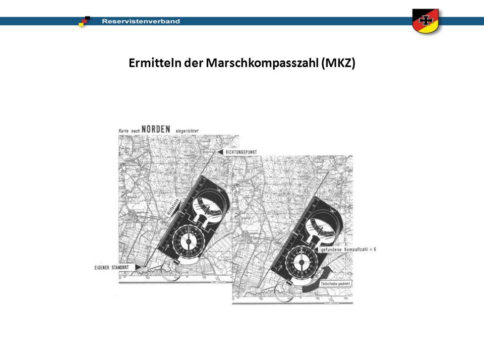 Ermitteln der Marschkompasszahl (MKZ)