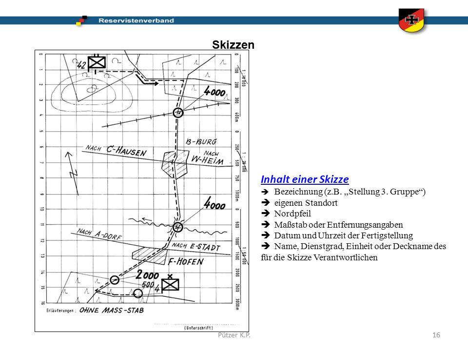 """Skizzen Inhalt einer Skizze  Bezeichnung (z.B. """"Stellung 3."""