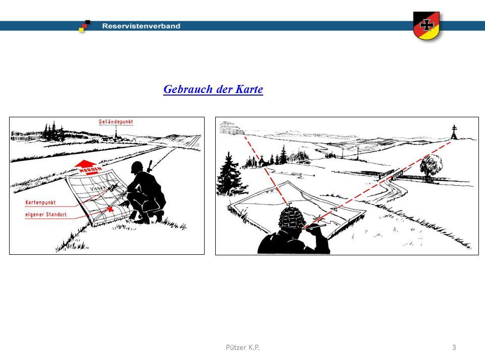 Gebrauch der Karte Pützer K.P.3