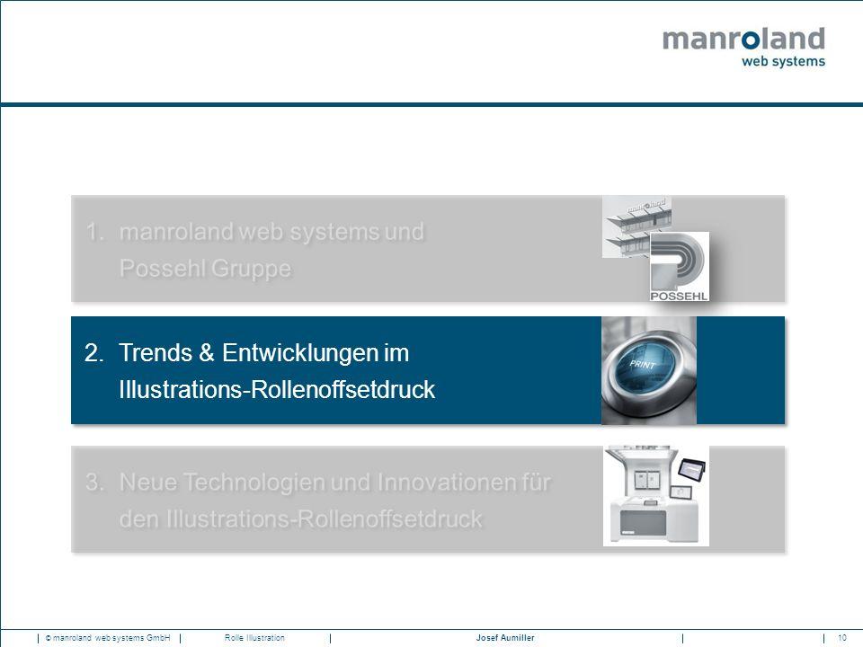 10Josef Aumiller © manroland web systems GmbHRolle Illustration 1.manroland web systems und Possehl Gruppe 3.Neue Technologien und Innovationen für de