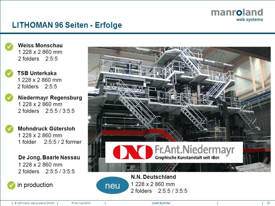 26Josef Aumiller © manroland web systems GmbHRolle Illustration LITHOMAN 96 Seiten - Erfolge De Jong, Baarle Nassau N.N. Deutschland neu