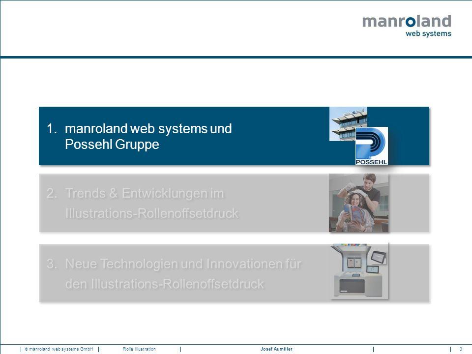 3Josef Aumiller © manroland web systems GmbHRolle Illustration 1.manroland web systems und Possehl Gruppe 3.Neue Technologien und Innovationen für den