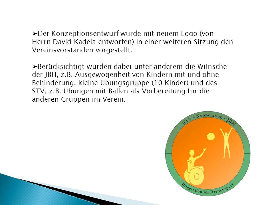  Der Konzeptionsentwurf wurde mit neuem Logo (von Herrn David Kadela entworfen) in einer weiteren Sitzung den Vereinsvorständen vorgestellt.