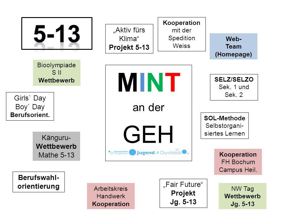MINT an der GEH Bioolympiade S II Wettbewerb Kooperation FH Bochum Campus Heil.