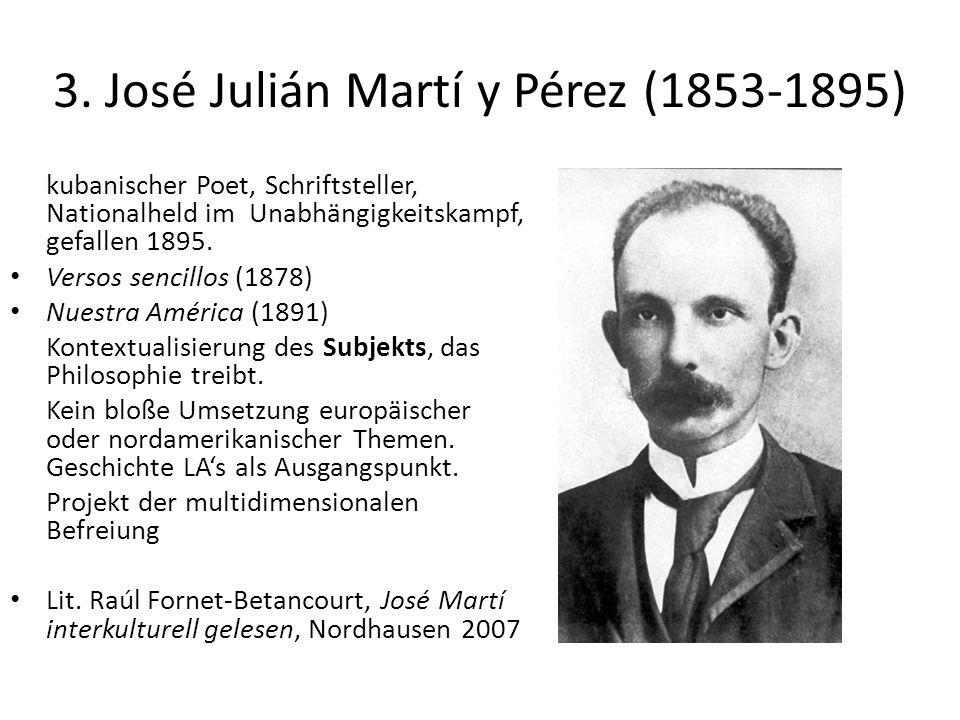 3. José Julián Martí y Pérez (1853-1895) kubanischer Poet, Schriftsteller, Nationalheld im Unabhängigkeitskampf, gefallen 1895. Versos sencillos (1878
