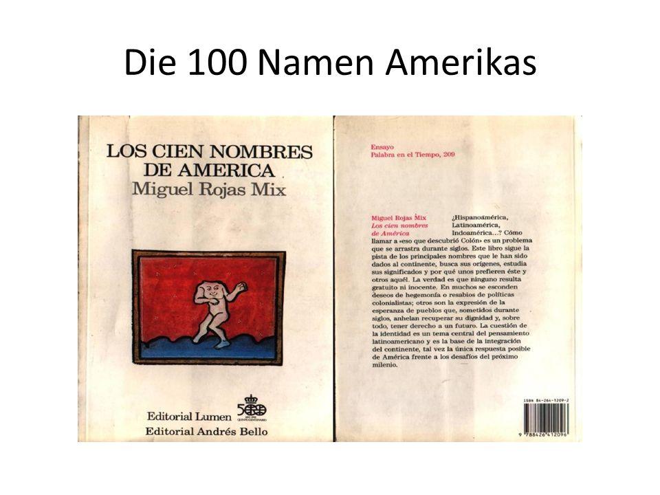 Die 100 Namen Amerikas