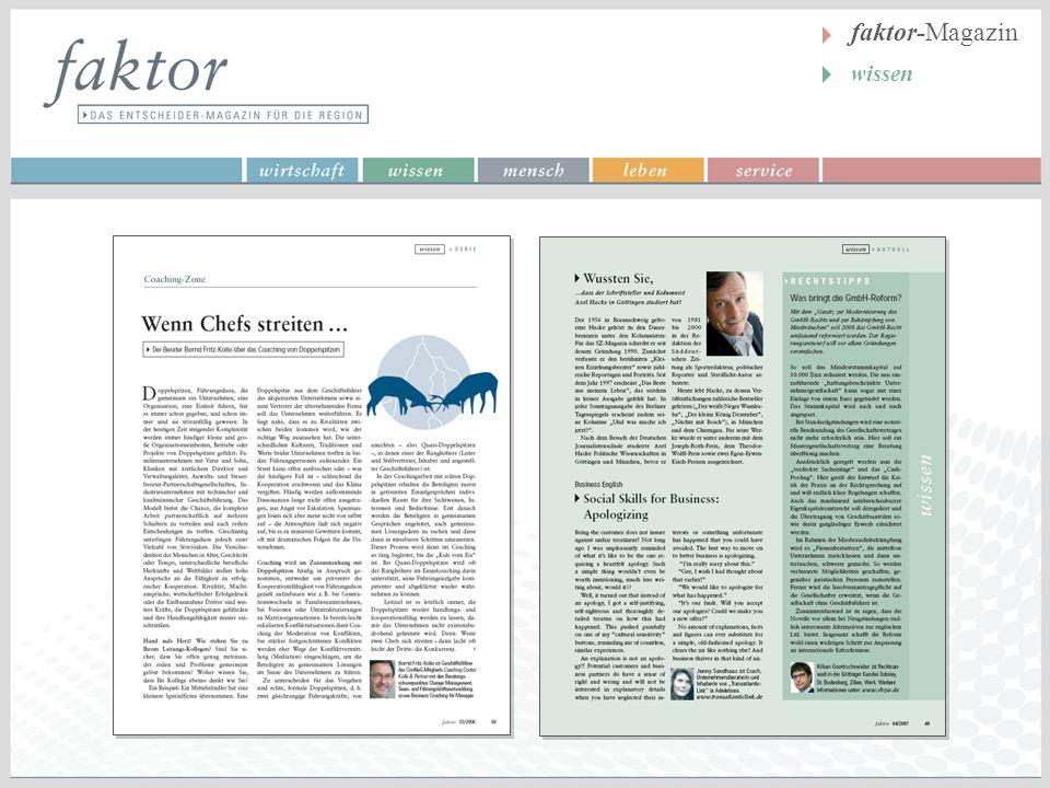 faktor-Magazin wissen