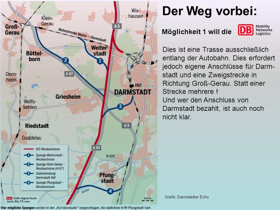 Die Vollanbindung von Darmstadt benötigt keine Abzweige.