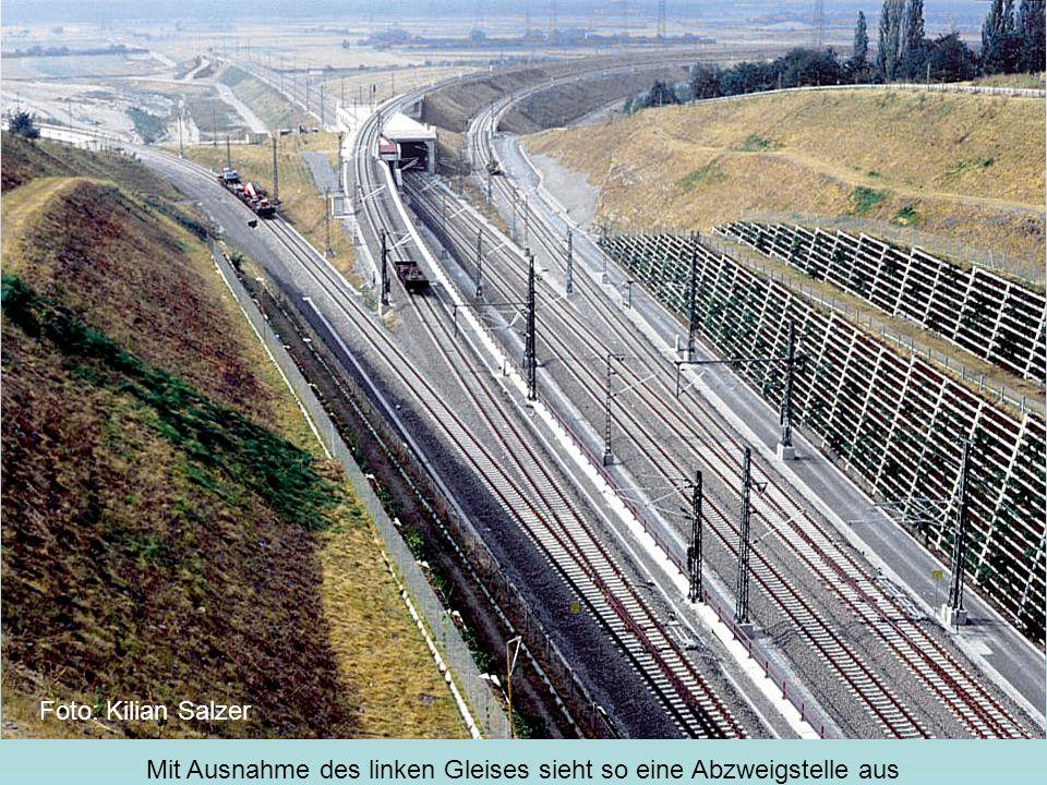 Mit Ausnahme des linken Gleises sieht so eine Abzweigstelle aus Foto: Kilian Salzer