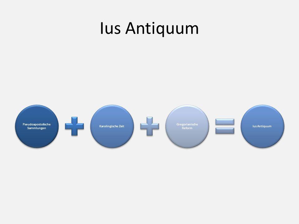 Pseudoapostolische Sammlungen Karolingische Zeit Gregorianische Reform Ius Antiquum