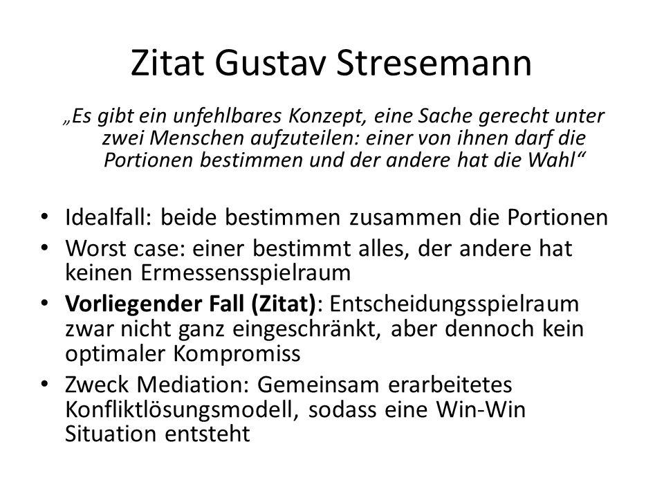 """Zitat Gustav Stresemann """" Es gibt ein unfehlbares Konzept, eine Sache gerecht unter zwei Menschen aufzuteilen: einer von ihnen darf die Portionen best"""