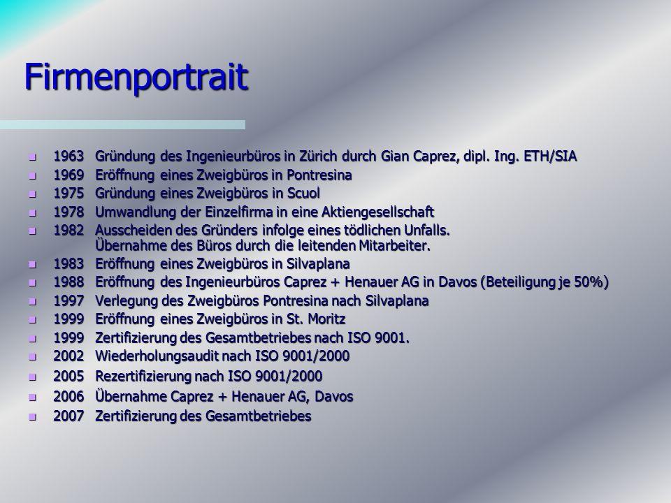 Tätigkeitsbereiche Konstruktiver Hochbau: Planung, Projektierung und Bauleitung von Wohn- und Industriebauten sowie Baugrubensicherungen.
