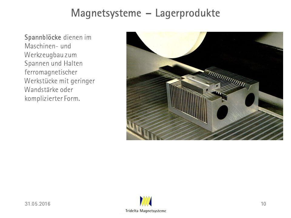 Magnetsysteme – Lagerprodukte Spannblöcke dienen im Maschinen- und Werkzeugbau zum Spannen und Halten ferromagnetischer Werkstücke mit geringer Wandst