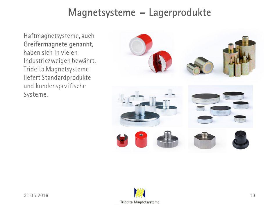 Magnetsysteme – Lagerprodukte Haftmagnetsysteme, auch Greifermagnete genannt, haben sich in vielen Industriezweigen bewährt. Tridelta Magnetsysteme li