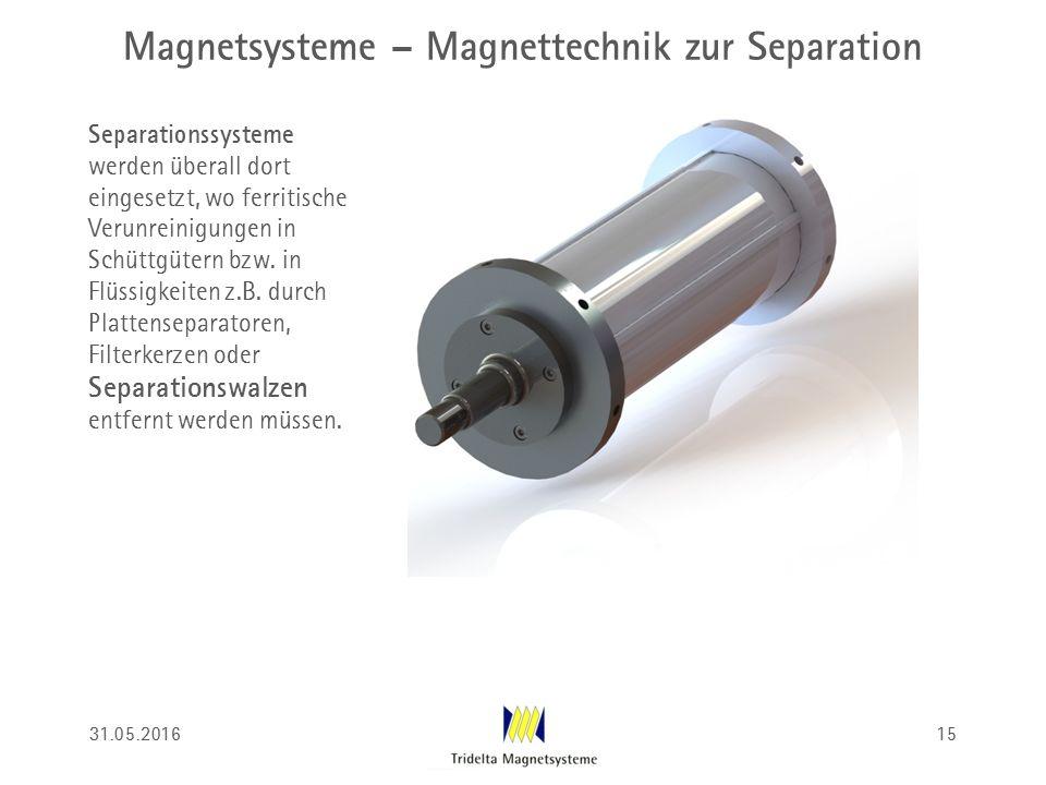 Magnetsysteme – Magnettechnik zur Separation Separationssysteme werden überall dort eingesetzt, wo ferritische Verunreinigungen in Schüttgütern bzw. i