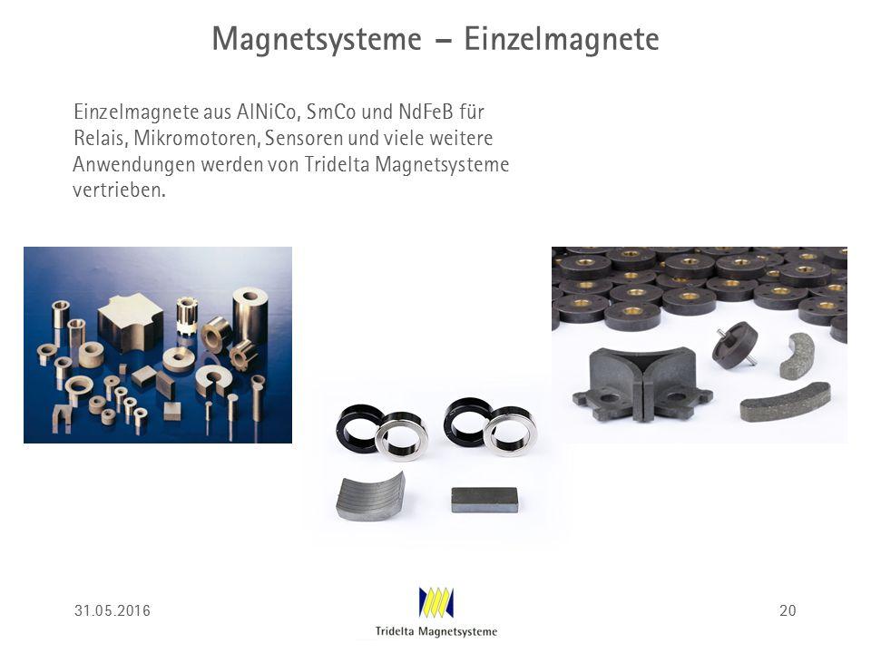Magnetsysteme – Einzelmagnete Einzelmagnete aus AlNiCo, SmCo und NdFeB für Relais, Mikromotoren, Sensoren und viele weitere Anwendungen werden von Tri