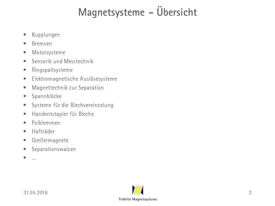Magnetsysteme - Übersicht Kupplungen Bremsen Motorsysteme Sensorik und Messtechnik Ringspaltsysteme Elektromagnetische Auslösesysteme Magnettechnik zu