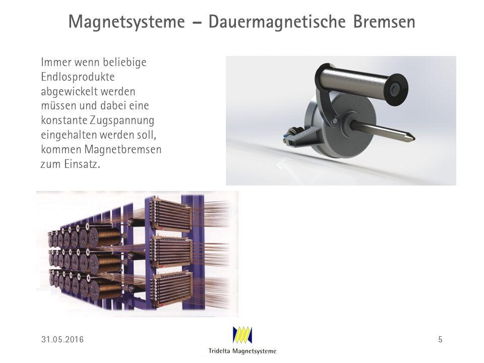 Magnetsysteme – Dauermagnetische Bremsen Immer wenn beliebige Endlosprodukte abgewickelt werden müssen und dabei eine konstante Zugspannung eingehalte