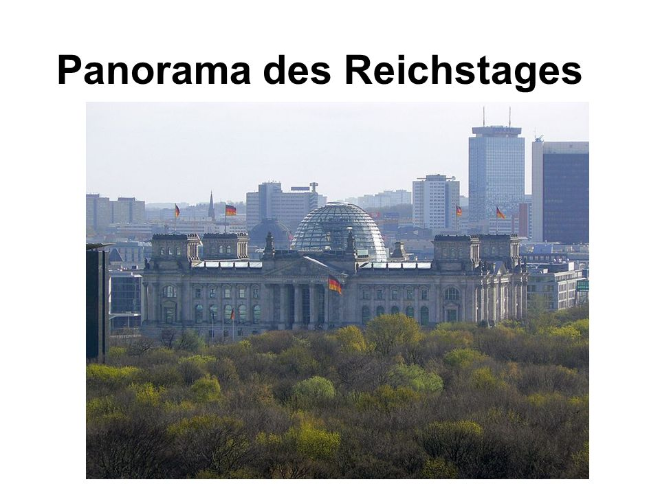 Panorama des Reichstages