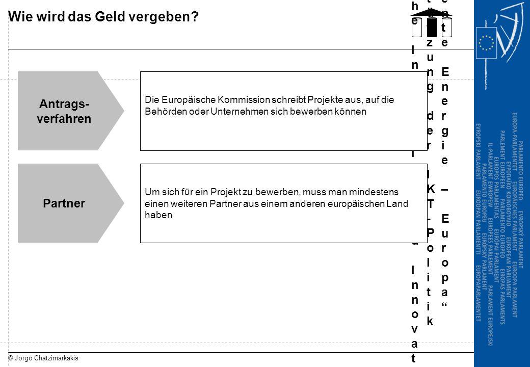 © Jorgo Chatzimarkakis Wie wird das Geld vergeben? Programm unternehmer-ische Initiative und InnovationProgramm unternehmer-ische Initiative und Innov