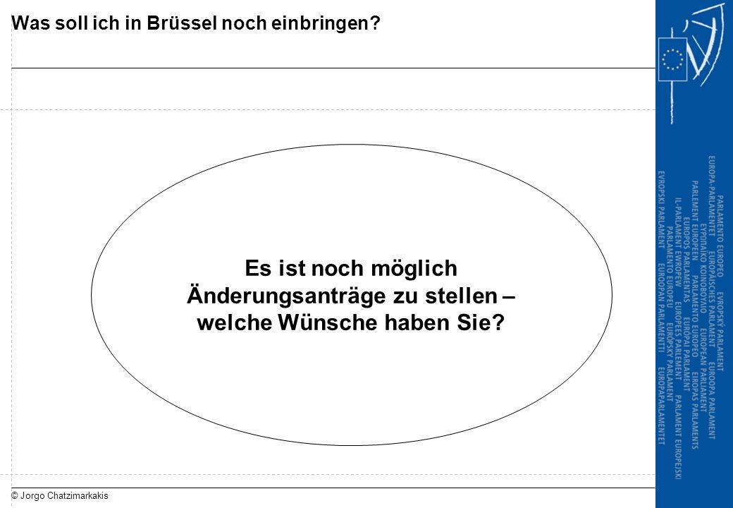 © Jorgo Chatzimarkakis Was soll ich in Brüssel noch einbringen? Es ist noch möglich Änderungsanträge zu stellen – welche Wünsche haben Sie?
