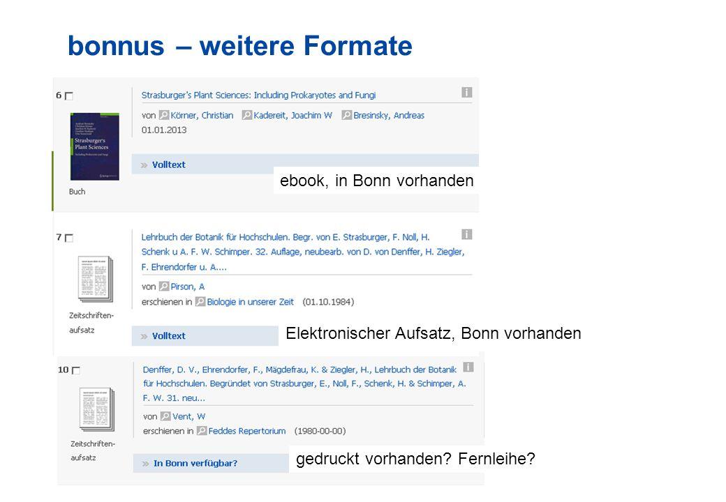11 bonnus – weitere Formate Elektronischer Aufsatz, Bonn vorhanden ebook, in Bonn vorhanden gedruckt vorhanden.