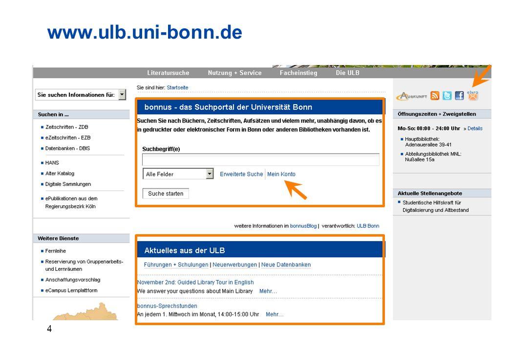 4 www.ulb.uni-bonn.de