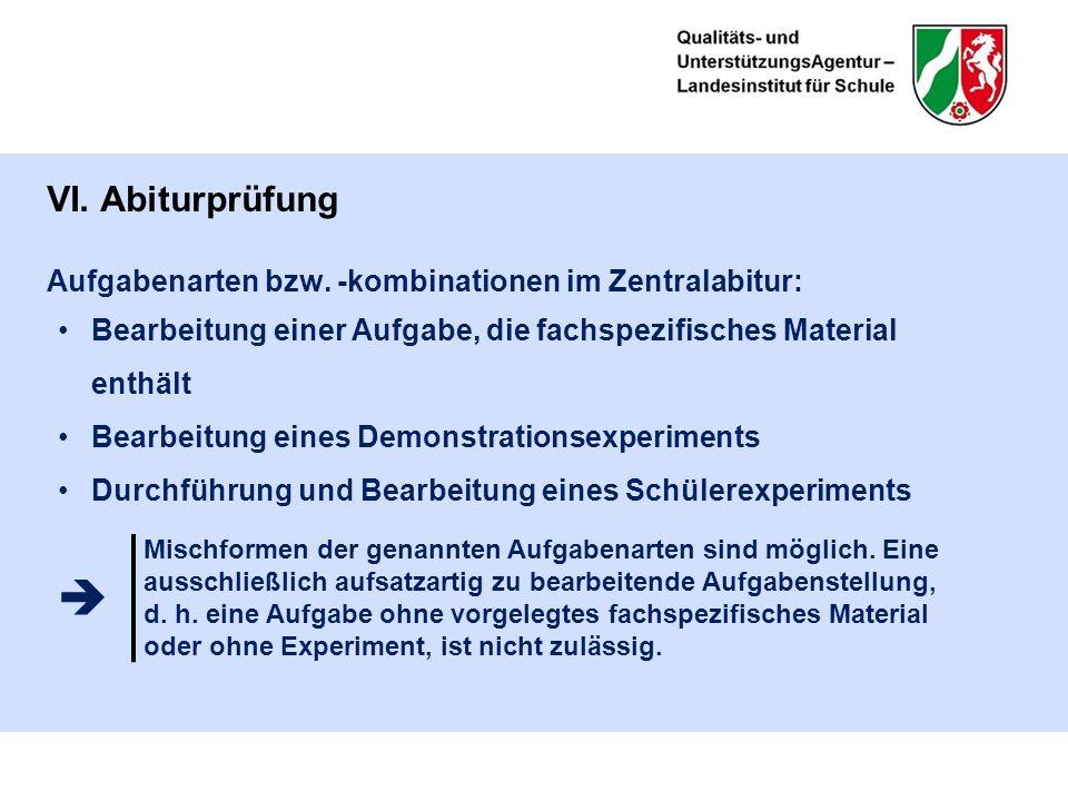 VI. Abiturprüfung Aufgabenarten bzw.
