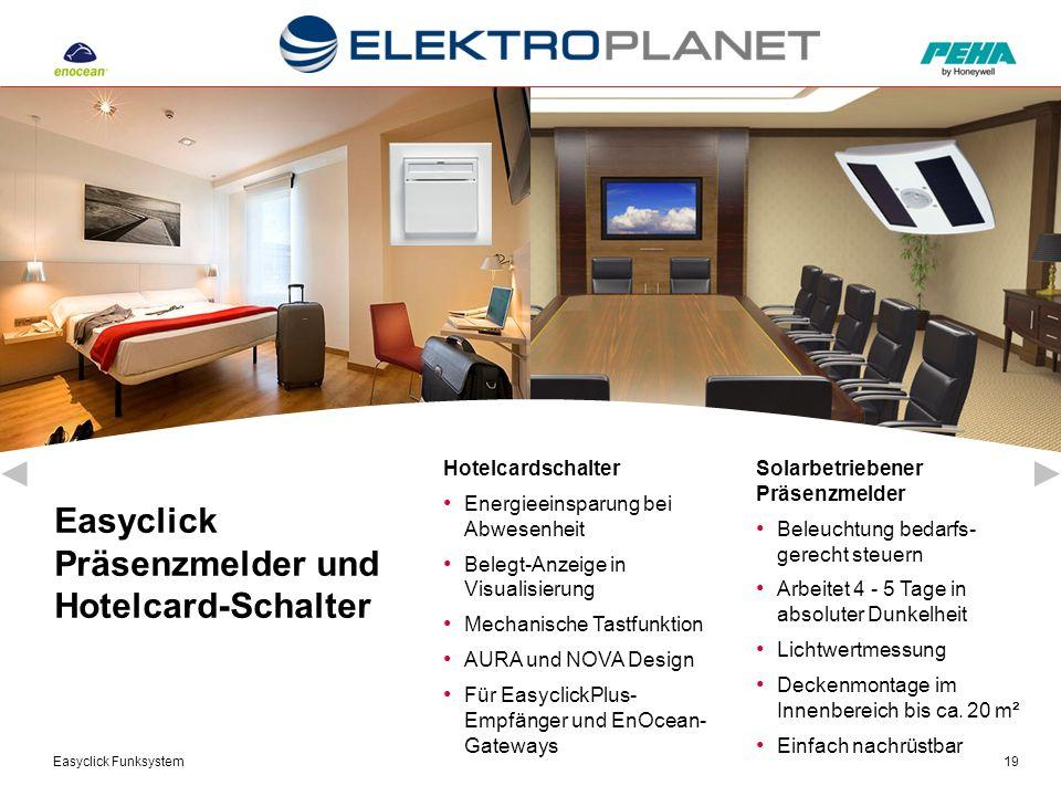 Easyclick Funksystem19 Solarbetriebener Präsenzmelder Beleuchtung bedarfs- gerecht steuern Arbeitet 4 - 5 Tage in absoluter Dunkelheit Lichtwertmessun