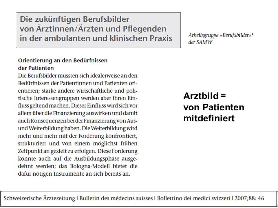 Arztbild = von Patienten mitdefiniert 7