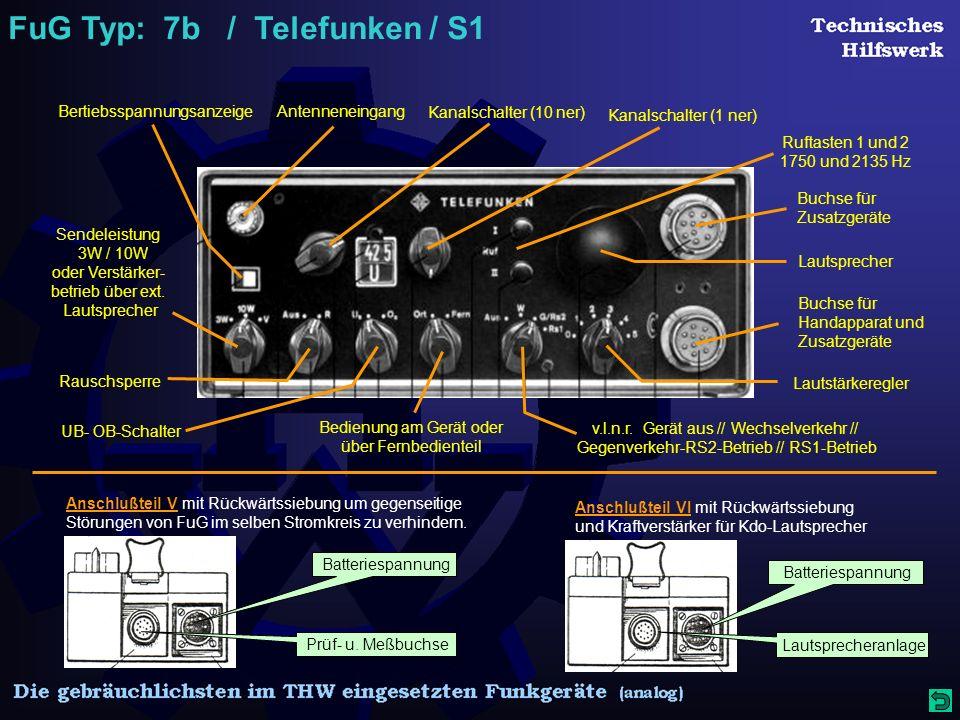 FuG Typ: 7b / Telefunken / S1 Prüf- u.