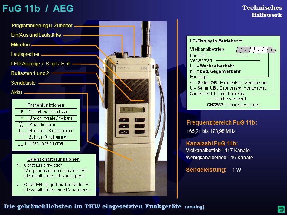FuG 11b / AEG Programmierung u.