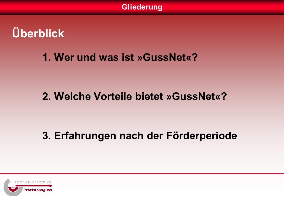 1. Wer und was ist »GussNet«. 2. Welche Vorteile bietet »GussNet«.
