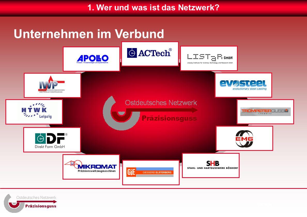 Unternehmen im Verbund 1. Wer und was ist das Netzwerk Vorteile