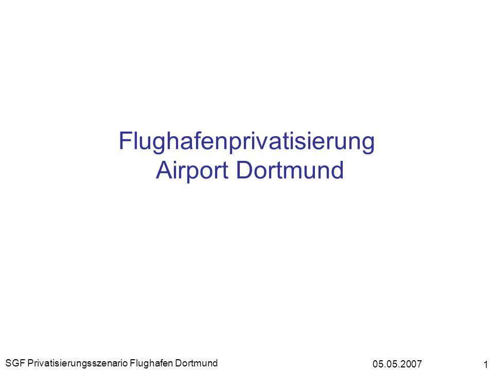 05.05.2007 SGF Privatisierungsszenario Flughafen Dortmund 1 Flughafenprivatisierung Airport Dortmund