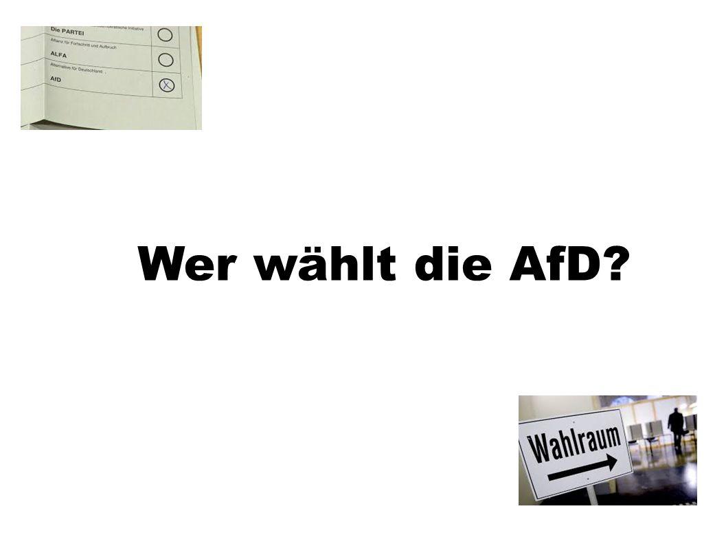 Wer wählt die AfD