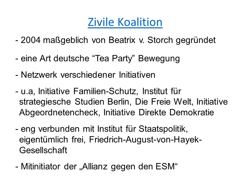 Zivile Koalition - 2004 maßgeblich von Beatrix v.