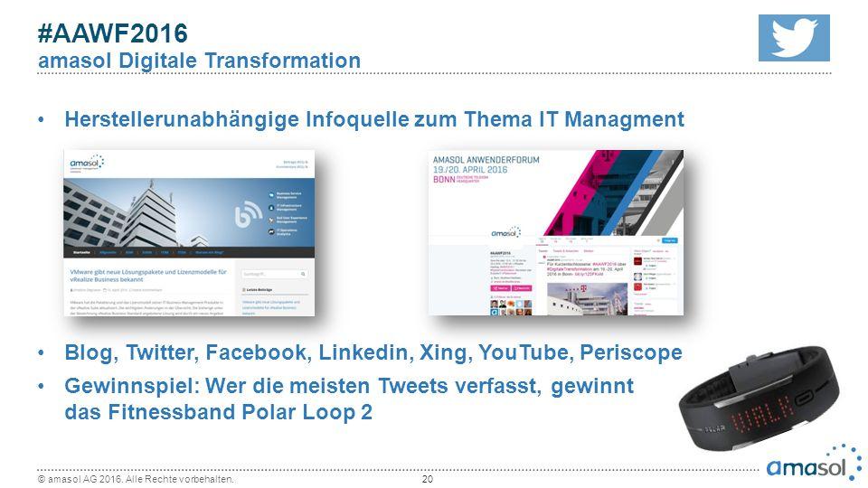 Herstellerunabhängige Infoquelle zum Thema IT Managment Blog, Twitter, Facebook, Linkedin, Xing, YouTube, Periscope Gewinnspiel: Wer die meisten Tweet