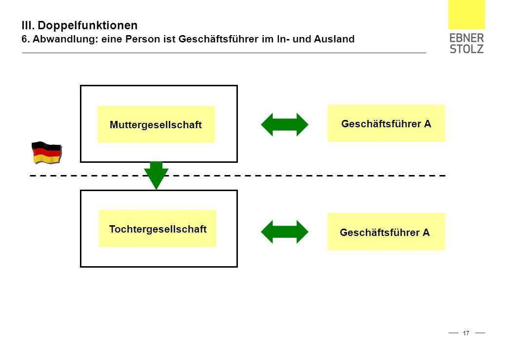 III. Doppelfunktionen 6.