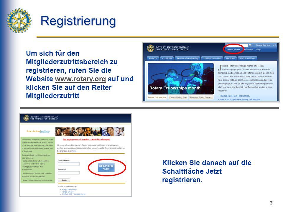 3 Registrierung Klicken Sie danach auf die Schaltfläche Jetzt registrieren.