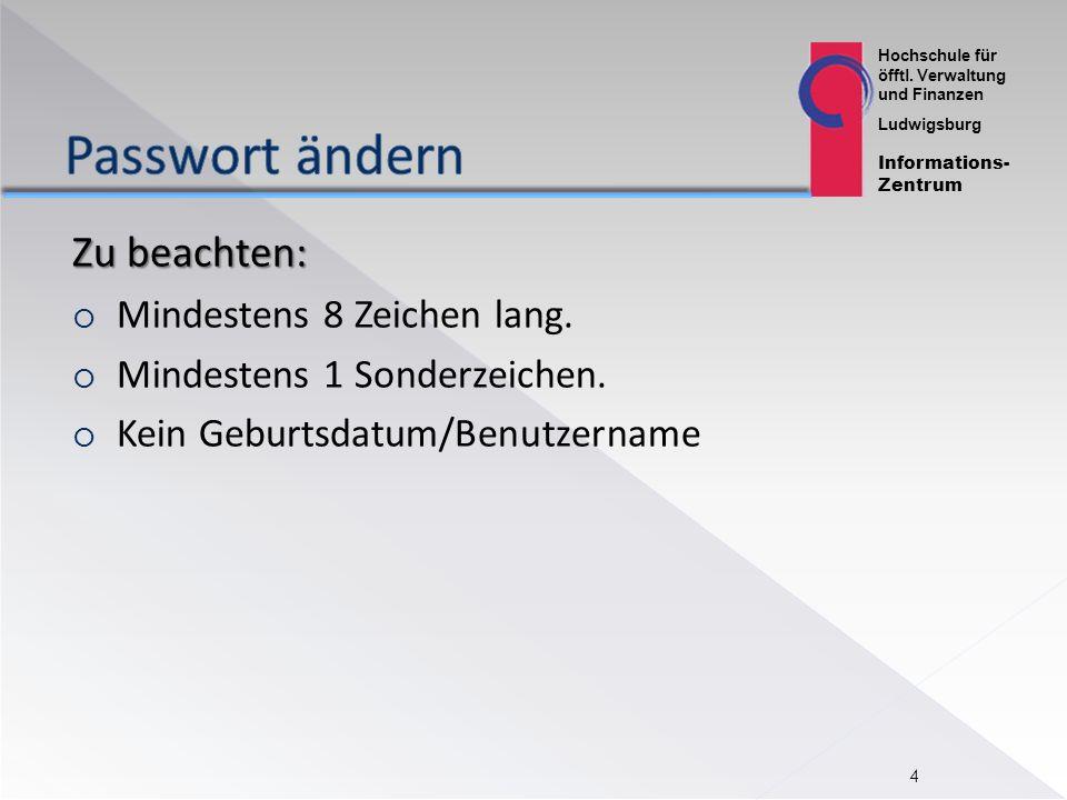 Hochschule für öfftl. Verwaltung und Finanzen Ludwigsburg Informations- Zentrum QIS: