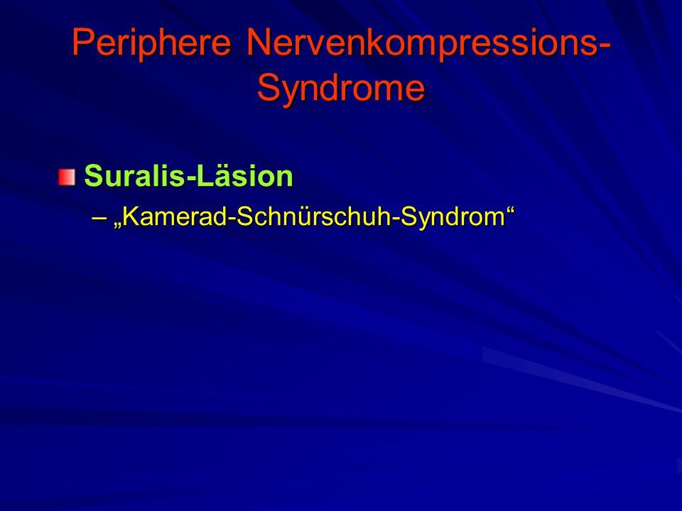 "Periphere Nervenkompressions- Syndrome Suralis-Läsion –""Kamerad-Schnürschuh-Syndrom"