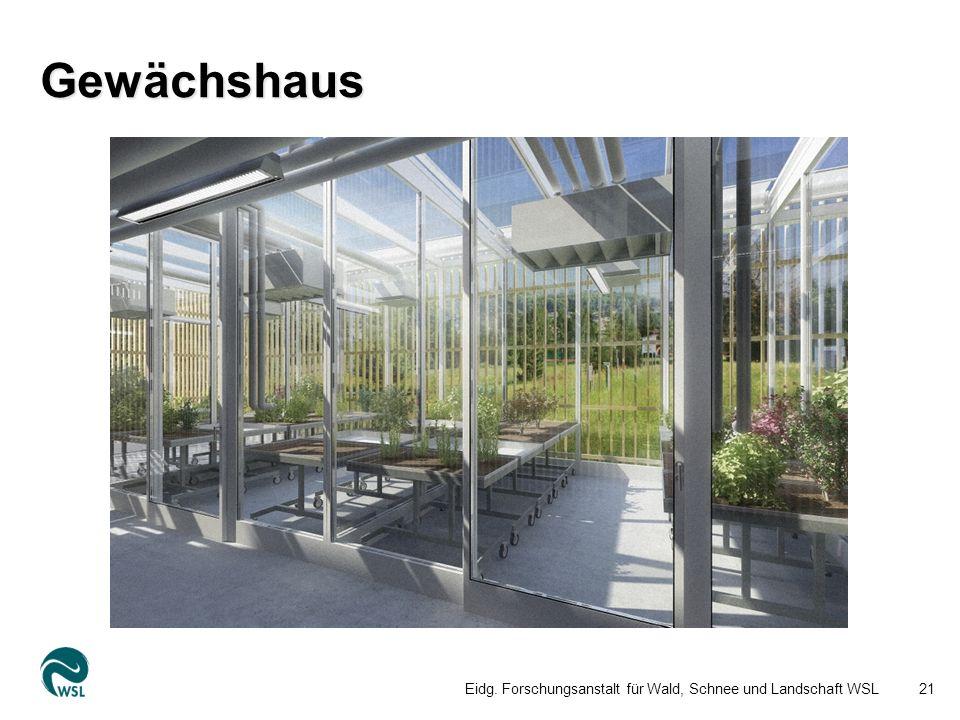Gewächshaus Eidg. Forschungsanstalt für Wald, Schnee und Landschaft WSL21