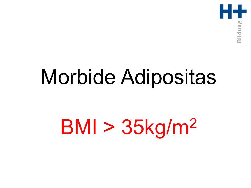 Morbide Adipositas BMI > 35kg/m 2